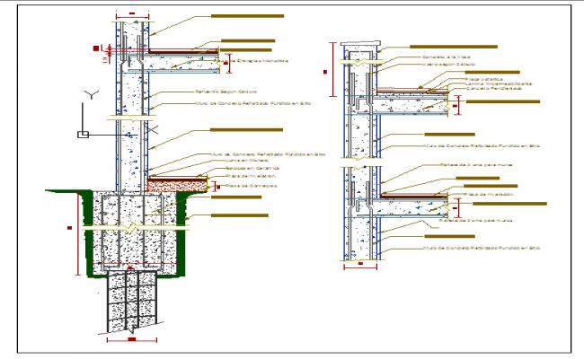 Pile Foundation details DWG file