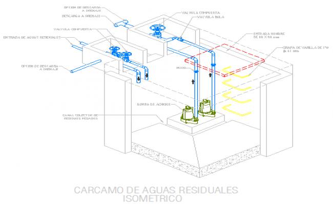 Residual waters drawing