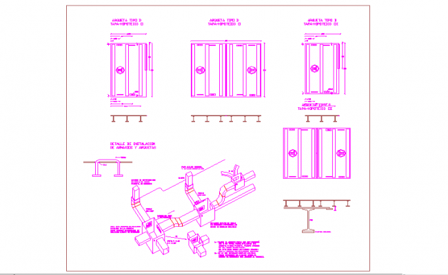A C Duct Detail in Autocad file