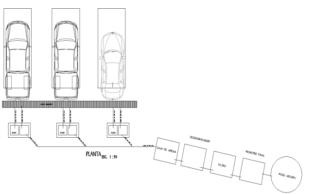 A treatment system for car washes plan detail