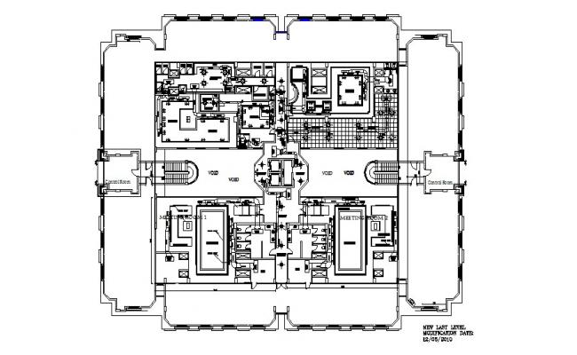 AC pent house distribution plan cad drawing details dwg file