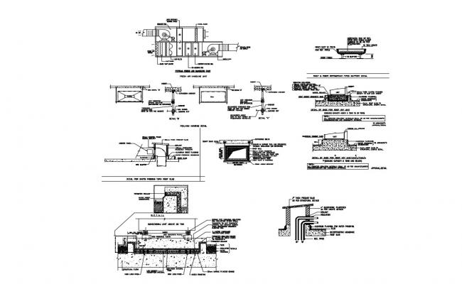 AHU Installation Details CAD File Download