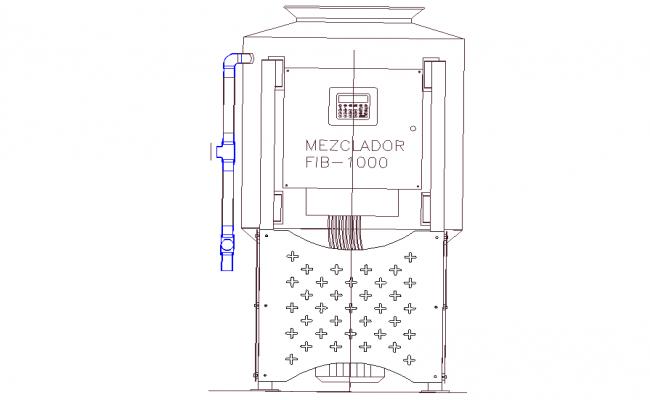 ATM machine elevation layout file