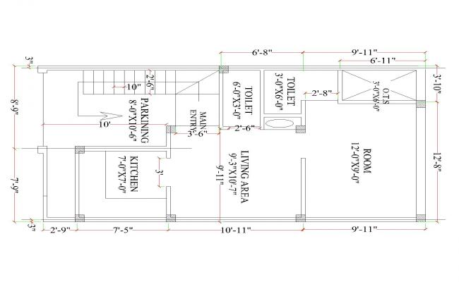 AUTOCAD HOUSE PLAN DRAWING & MINING WORK