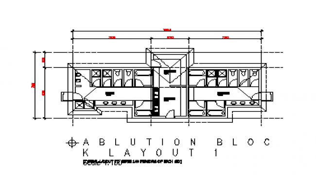Ablution Block layout design drawing