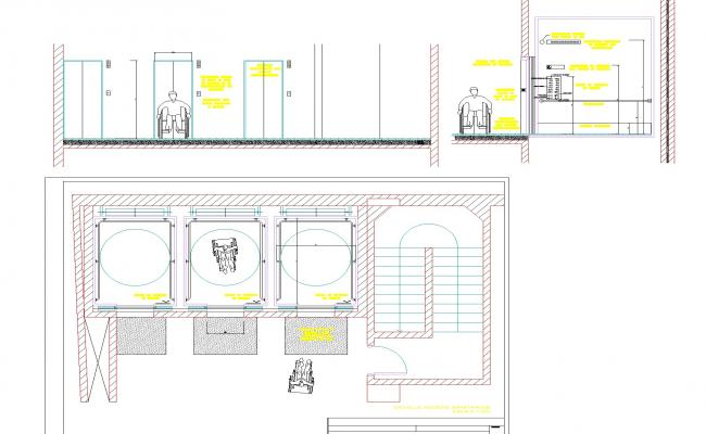 Accessible elevators plant section layout file