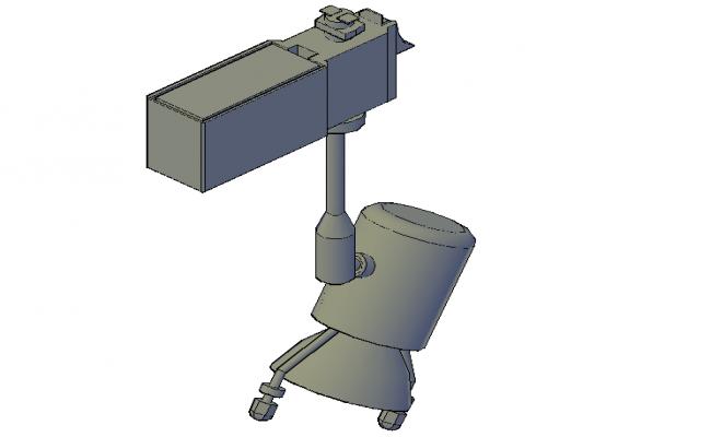 Adjustable projector 3d  elevation