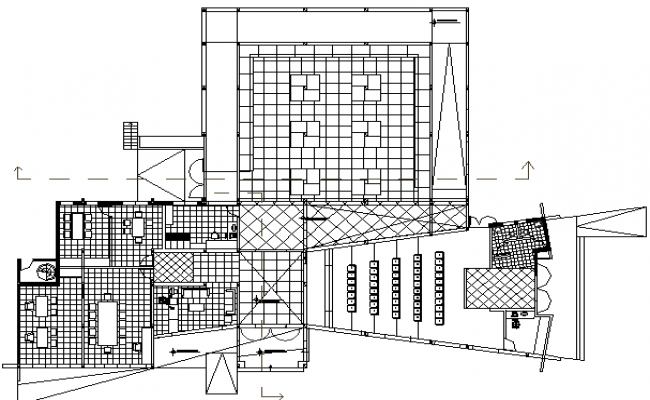 Administration Building Architecture Design, Structure dwg file