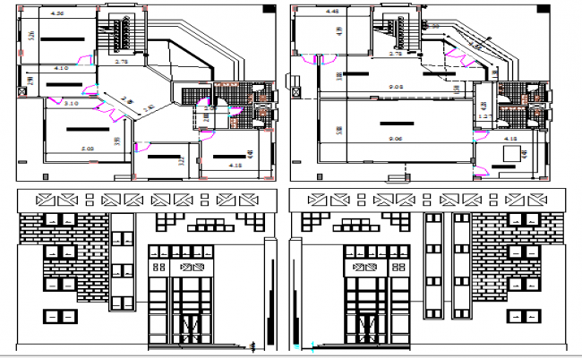 Administration building floor plan and auto-cad details dwg file