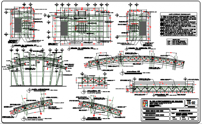 Administration government building construction and auto-cad details dwg file