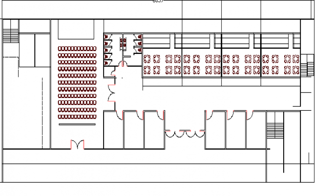 Administration office architecture layout plan details dwg file