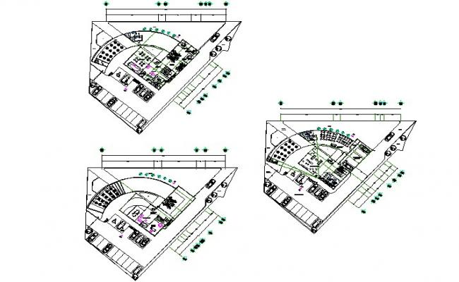 Administration office building detail dwg file