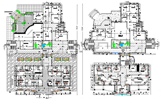 Administration plan detail dwg file