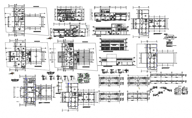 Administrative building dwg file