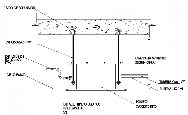 Air conditioning equipment details dwg file
