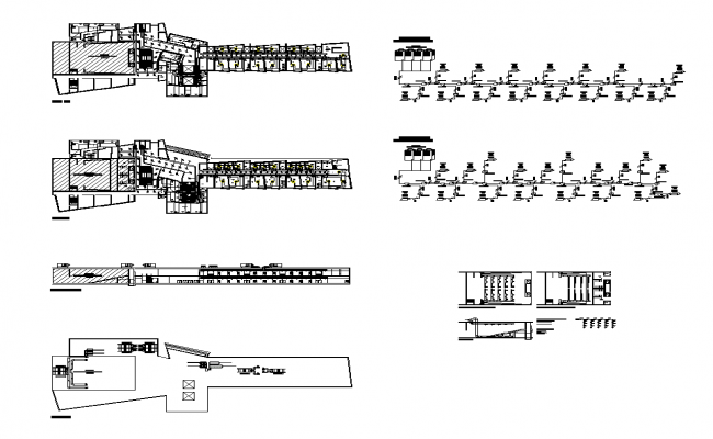Air conditioning installation in auditorium elevation and plan layout file