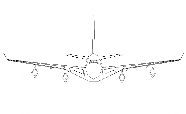 Aircraft front view details