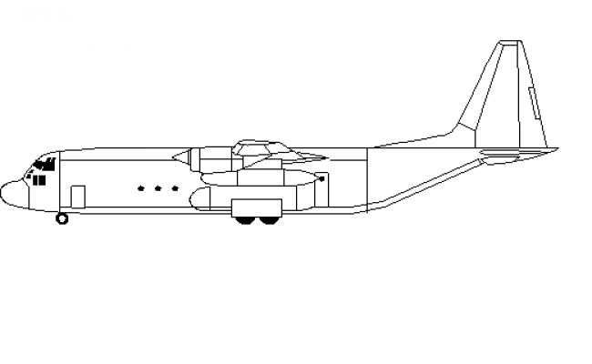 Aircraft side view details