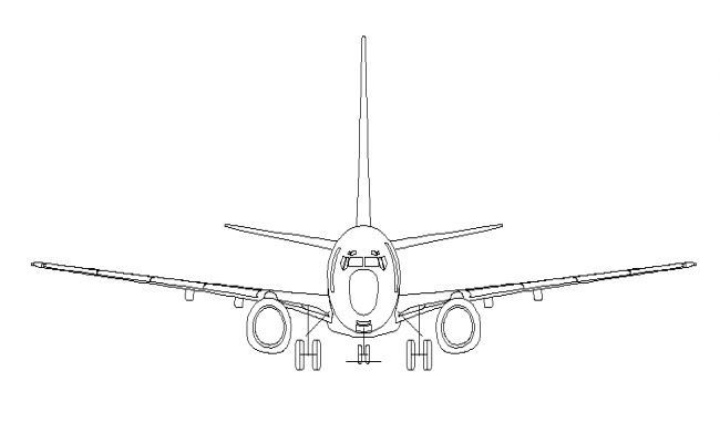 Airplane 2d front details