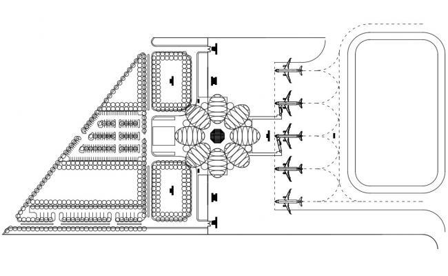 Airport Hangar Design Layout Plan