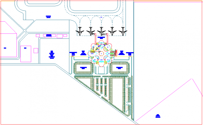 Airport site plan design