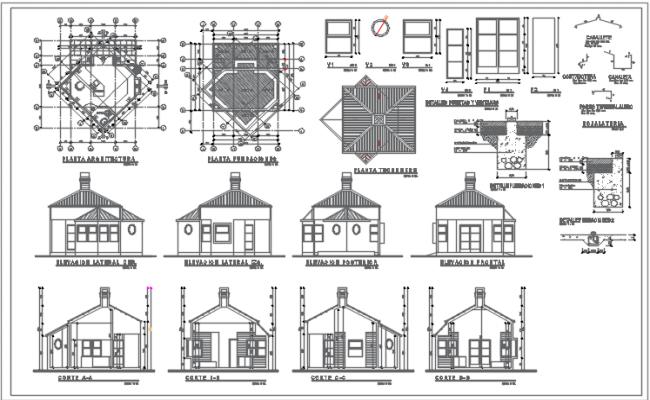 All detail plan view dwg file