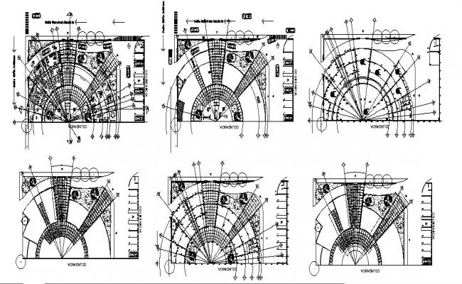 All floors layout plan details of international airport terminal dwg file