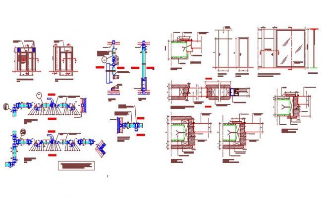 Aluminium Openings or door types and detail drawing.