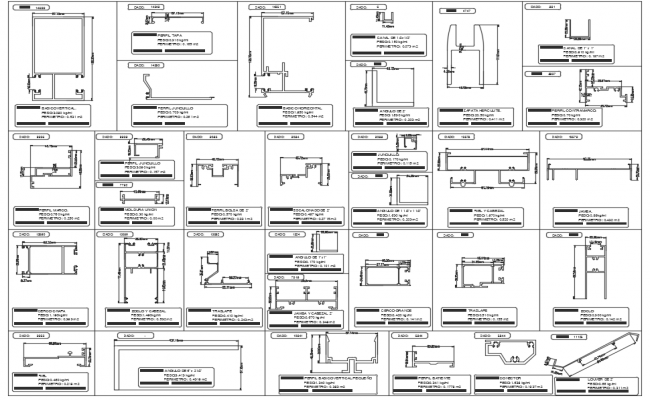 Aluminium casement window section