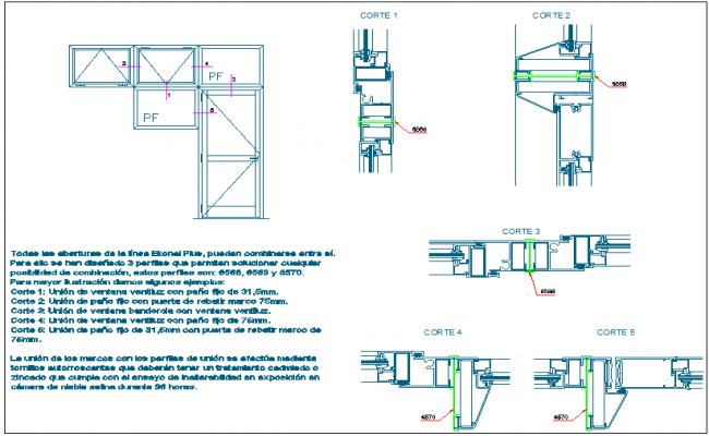 Aluminium door design view