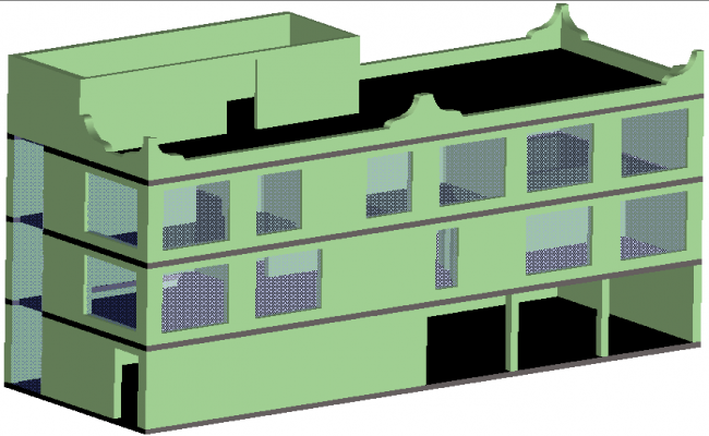Amplification house plan detail dwg file