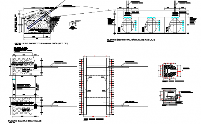 Anchor camera plan and section autocad file