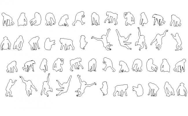 Animal blocks design drawing