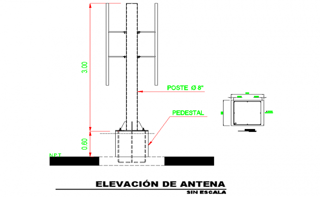 Antenna elevation autocad file