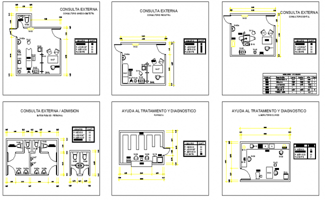 Anthropocentric Templates for Designing Hospital Rooms dwg file