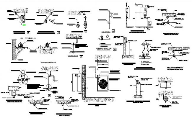 Anti earth quake system cad electrical drawing details dwg file