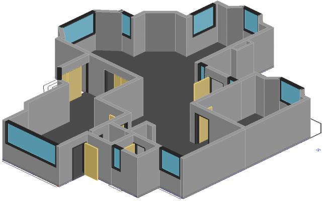 Apartment 3 D plan detail