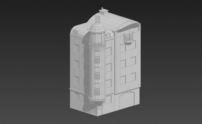 Apartment 3D Historical Elevation In 3D MAX File Free Download