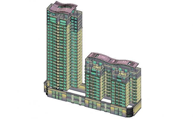 Apartment 3d View AutoCAD File Download