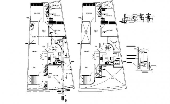 Apartment Architecture plan 2d CAD drawing