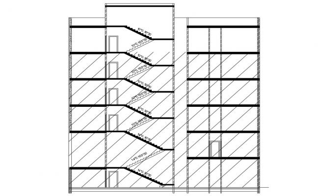 Apartment Building Free Section Drawing DWG File