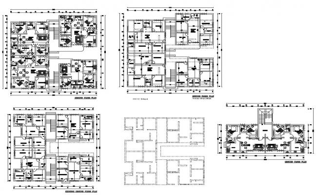 Apartment CAD plan Layout Drawing