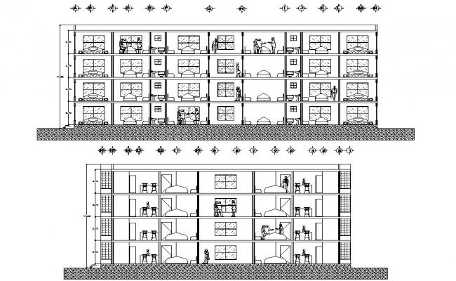 Apartment Cross Section DWG File