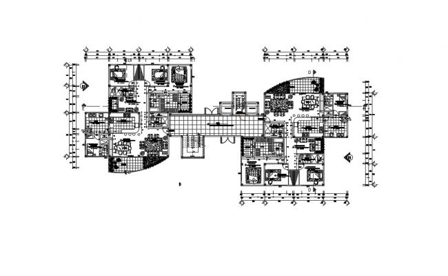 Apartment Design Plans  In DWG File