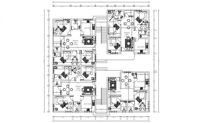 Architect Apartment Layout Plan DWG File