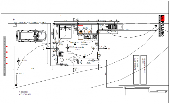 Apartment Design view with four room