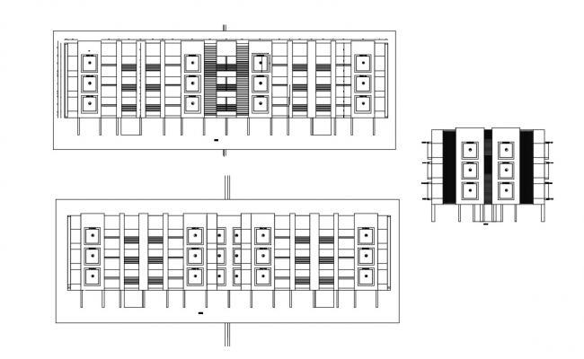 Apartment Elevation Architecture Design CAD File Download