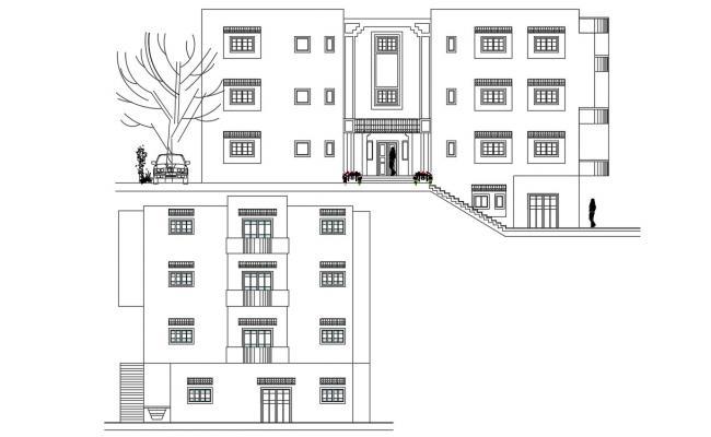 Apartment Elevation Design AutoCAD File
