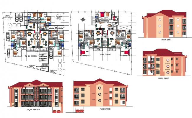Apartment Flat CAD Drawing Layout File