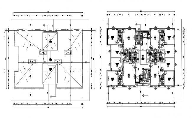Apartment Floor Free Plans AutoCAD File